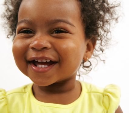 Portrait of Cheerful Baby Girl