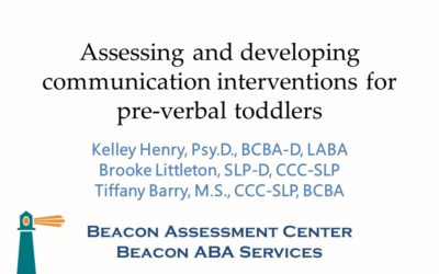 "2019 MEIC Presentation: ""Assessing and Developing Communication Interventions for Preverbal Toddlers"""